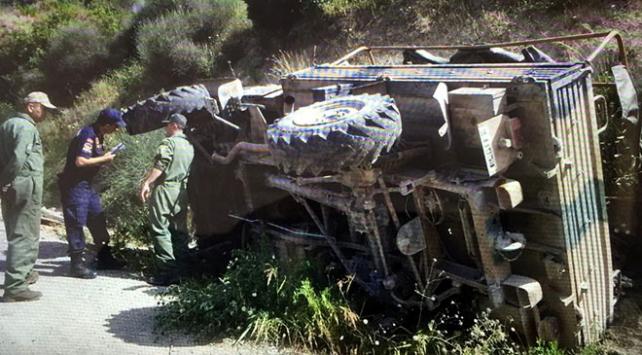 Hatayda askeri araç devrildi: 19 yaralı