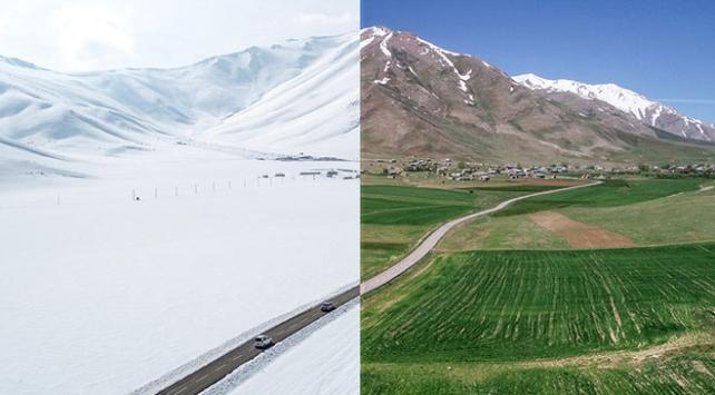 Türkiyeden tek karede yaz ve kış manzaraları