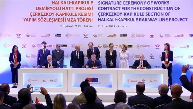 Avrupa ile yüksek standartlı demir yolu bağlantısı için imzalar atıldı