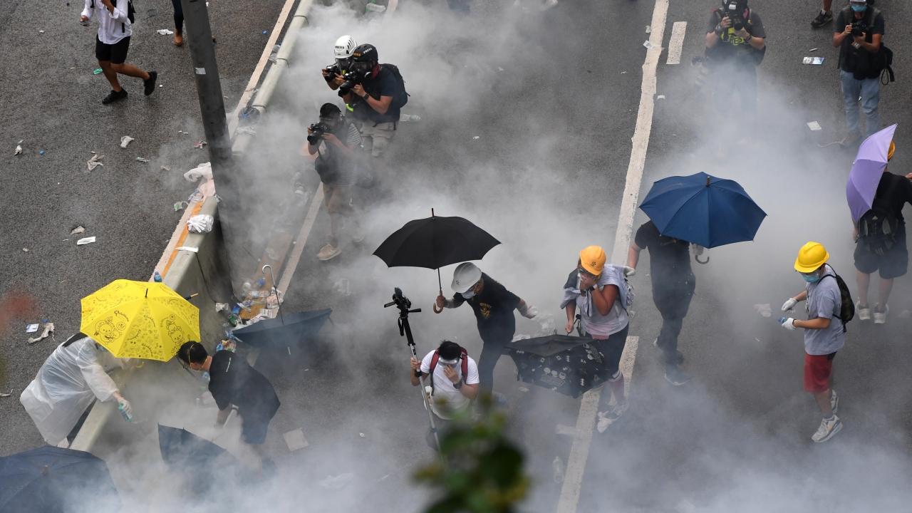 Hong Kongda protesto