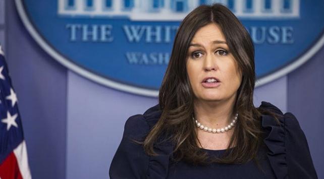 Beyaz Saray Sözcüsü Sanders ay sonunda görevinden ayrılıyor