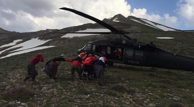 Yıldırım isabet eden vatandaşın imdadına polis helikopteri yetişti