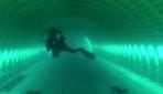 Saros Körfezinde batırılan dev uçak su altında görüntülendi