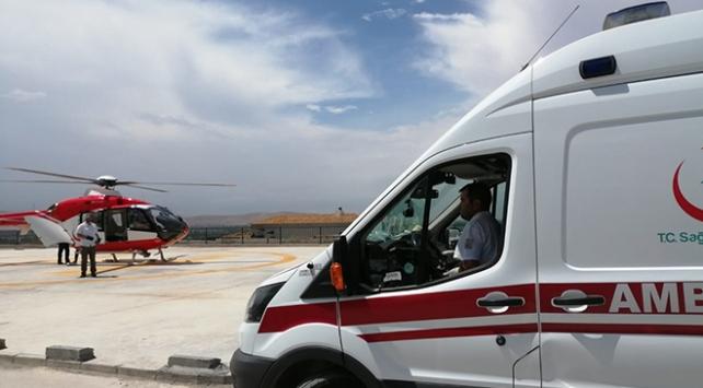 Nurhak Dağında yaralanan öğretmen helikopter ile kurtarıldı