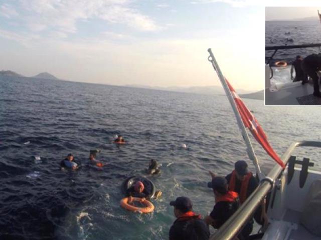 Düzensiz göçmenleri taşıyan tekne Bodrum açıklarında battı