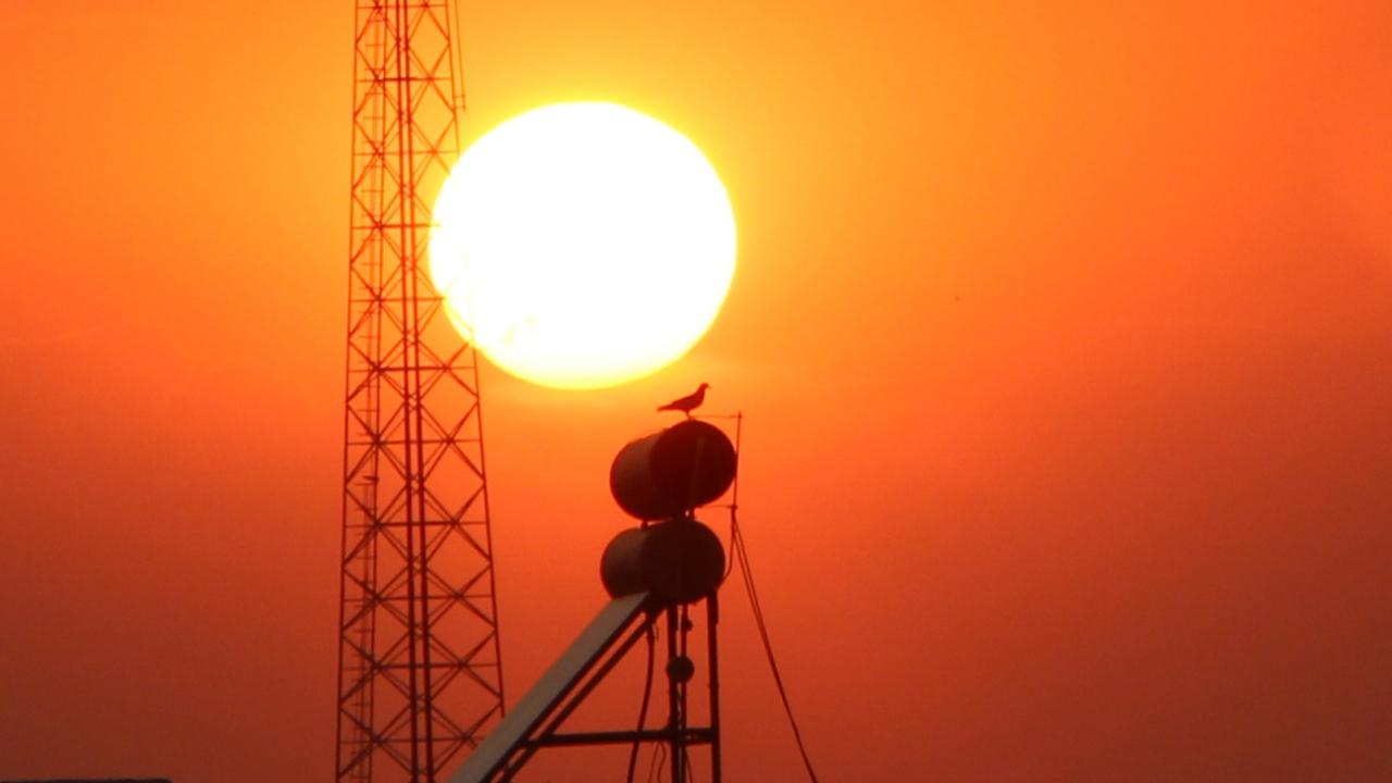 Nusaybinde eşsiz gün batımı manzarası