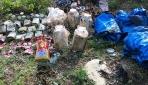 Şırnakta teröristlere ait bulunan yaşam malzemeleri imha edildi