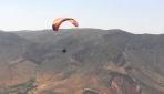 Engelli gencin yamaç paraşütü hayali gerçek oldu