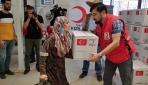 Erbildeki savaş mağduru ailelere Türkiyeden yardım eli