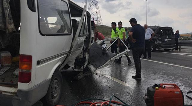 Anadolu Otoyolundaki zincirleme kaza ulaşımı aksattı