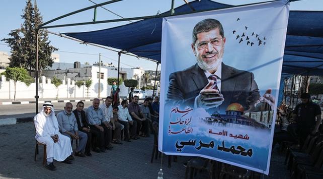 Gazze ve Katar'da Mursi için taziye çadırı kuruldu