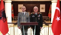Orgeneral Güler, Arnavut mevkidaşı ile görüştü