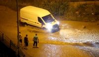 Trabzon'da şiddetli yağış yaşamı olumsuz etkiledi