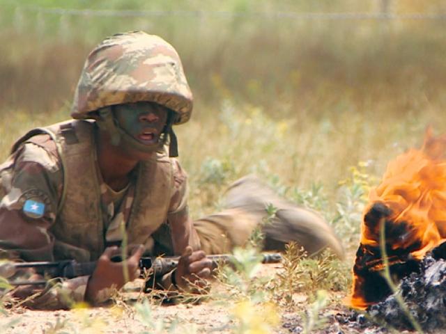 Somalili komando adayları Ispartada eğitiliyor