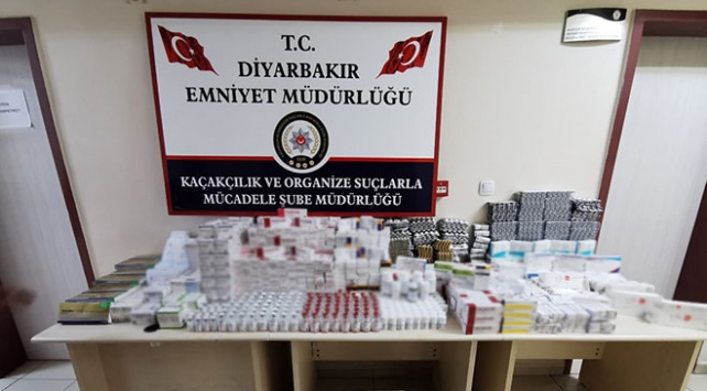 Diyarbakırda piyasa değeri 3 milyon lira olan kaçak ilaç ele geçirildi
