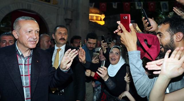 Cumhurbaşkanı Erdoğan Eyüp Sultan Camiinde