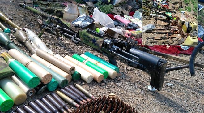 Pençe Harekatında PKKya ait silah ve mühimmatlar ele geçirildi
