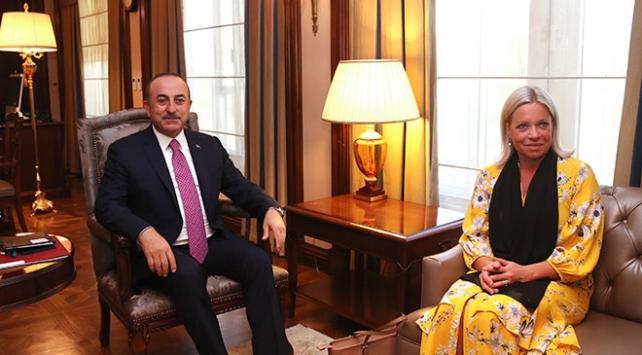 Bakan Çavuşoğlu, BM Irak Özel Temsilcisi Plasschaert ile görüştü