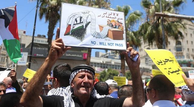Gazze ve Batı Şeriada Manama çalıştayı protestosu