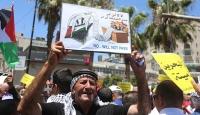 Gazze ve Batı Şeria'da Manama çalıştayı protestosu