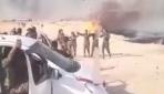Tarım arazileri yanarken YPG/PKKlı teröristler halay çekti