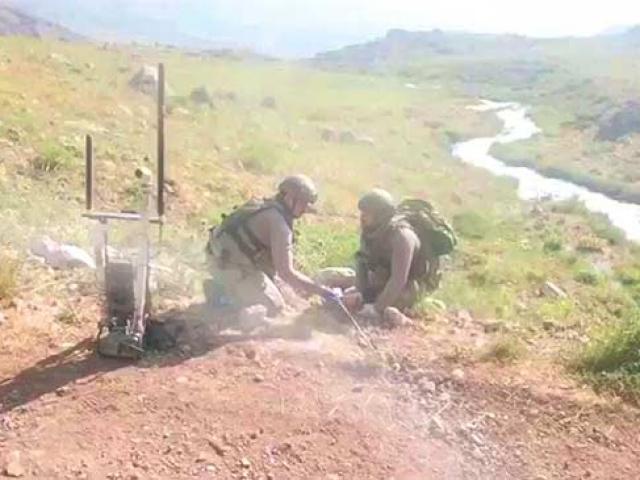 Siirtte PKKnın döşediği el yapımı patlayıcı imha edildi