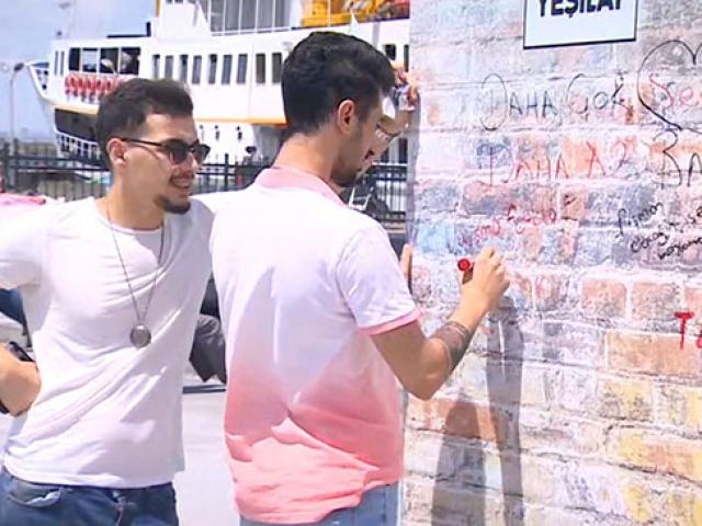 Yeşilay'dan uyuşturucuyla mücadeleye özel duvar