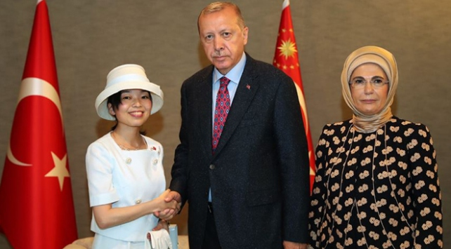 Cumhurbaşkanı Erdoğan, Altes Prenses Akiko ile görüştü