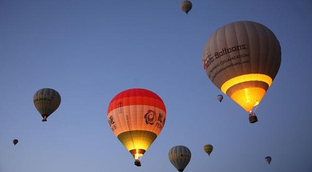 Kapadokyadaki sıcak hava balon turlarına 6 ayda 232 bin katılım