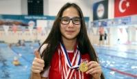 Paralimpik milli sporcu Nil Şahin hedeflerine yüzüyor