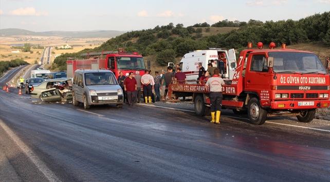 Yozgatta trafik kazası: 1 ölü, 6 yaralı