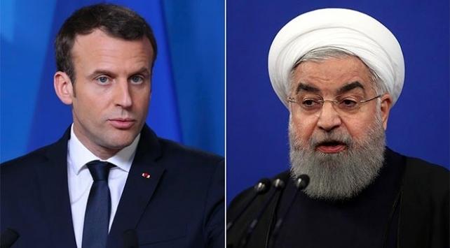 Macron ile Ruhani telefonda görüştü