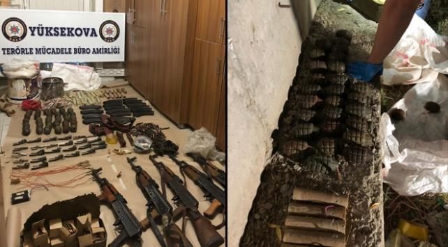 Hakkaride PKKya ait silah ve mühimmatlar ele geçirildi