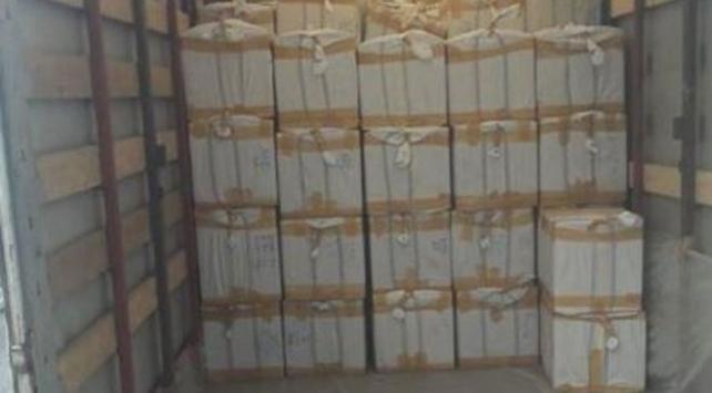 Samsunda bir tırda 85 bin adet kaçak parfüm ele geçirildi