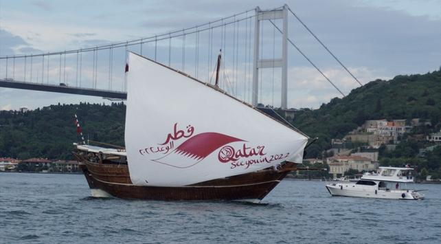 Katarın tanıtım yelkenlisi İstanbuldan yola çıktı