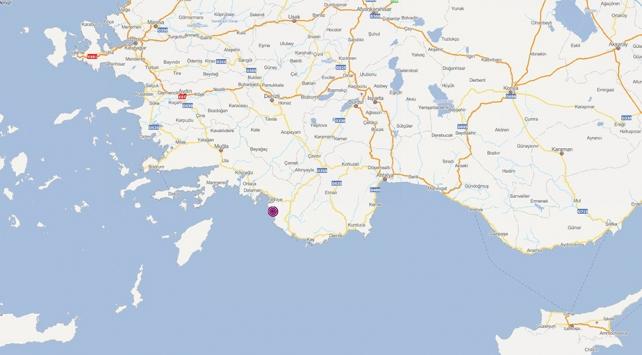 Fethiyede 3,7 büyüklüğünde deprem