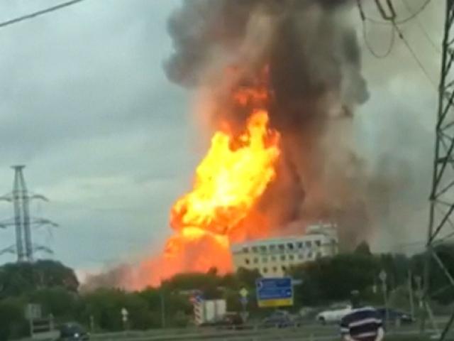 Rusyada enerji santrali alev alev yandı