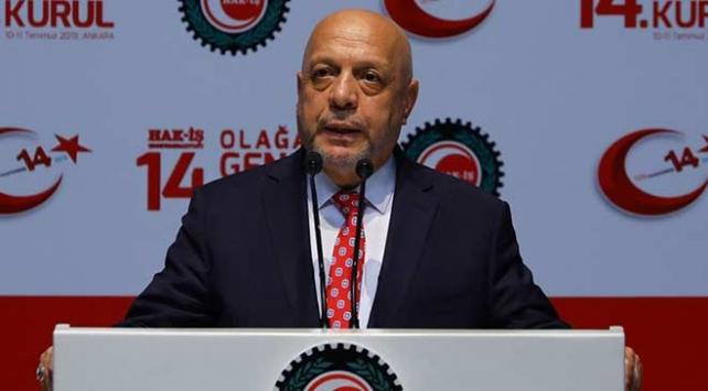 Mahmut Arslan yeniden Hak-İşin genel başkanlığa seçildi