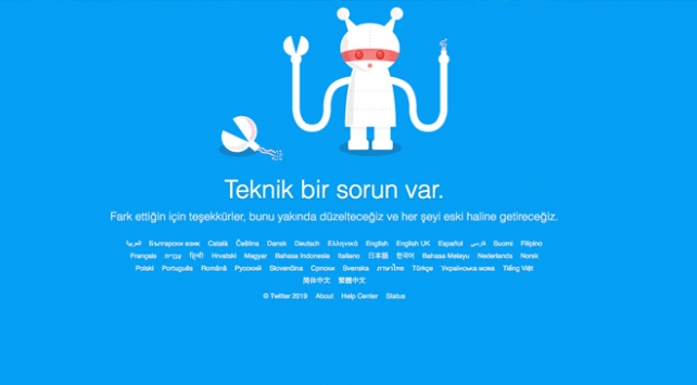 Dünya genelinde Twittera erişim sıkıntısı yaşandı