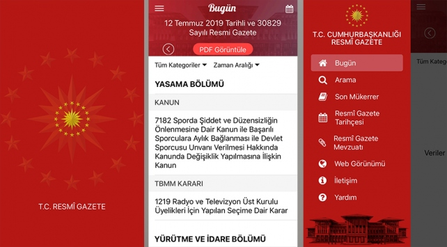 Resmi Gazetenin mobil uygulaması hayata geçti
