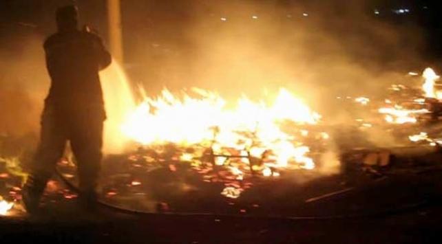 Erzincanda turşu fabrikasında yangın
