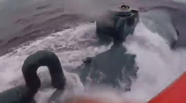 ABD Sahil Güvenliği kokain taşıyan denizaltıyı yakalama videosunu yayınladı