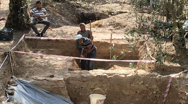 Bursada Roma dönemine ait lahit mezar bulundu