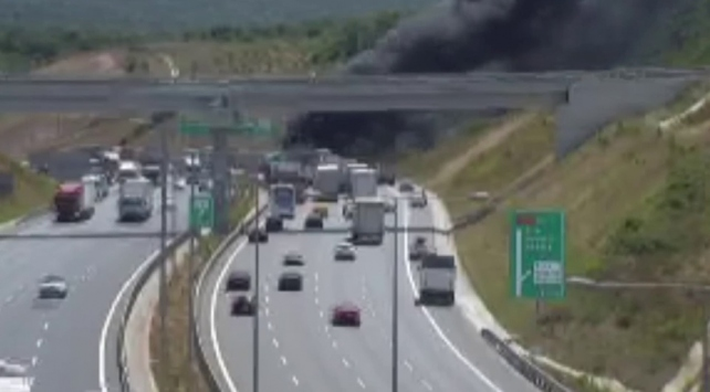 Yavuz Sultan Selim Köprüsünde araç yangını