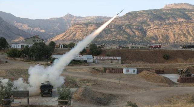 Pençe-2 Operasyonunda PKK hedefleri ateş altına alındı