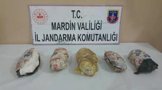 Mardinde 7 kilogram plastik patlayıcı ele geçirildi