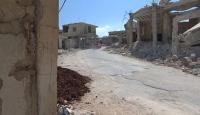 Esed rejiminin saldırılarıyla İdlib sokakları enkaza döndü