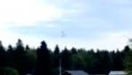 İsveçte uçağın düşüş anı amatör kamerada