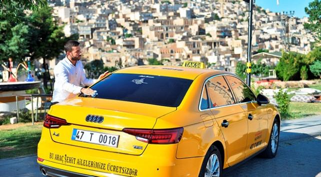 Mardinli taksici şehit yakınlarını ücretsiz taşıyor