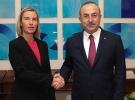 Dışişleri Bakanı Çavuşoğlu, Mogherini ile görüştü